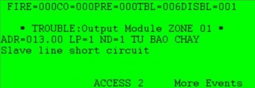 Slave line short circuit: Chập mạch, thiếu Diode trên modul SOM/SOM-A/AI